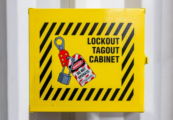 Lockout tagout cabinet