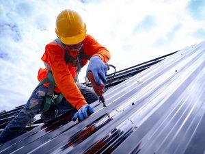 Rooftop worker
