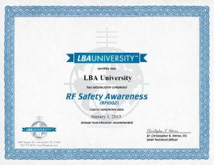 LBAU Version 1 Certificate