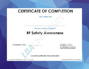LBAU Version 3 Certificate